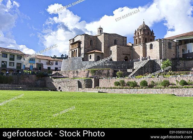 Cuzco, Qorikancha, Old city street view, Peru, South America