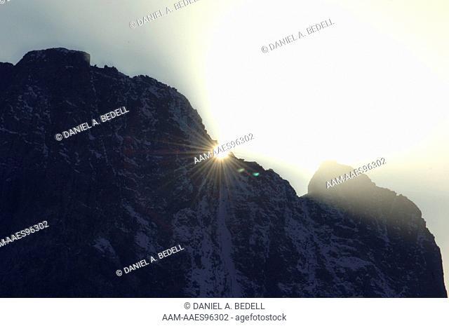 Sunlight, Mt. Moran, Grand Teton NP, Wyoming, September, digital capture