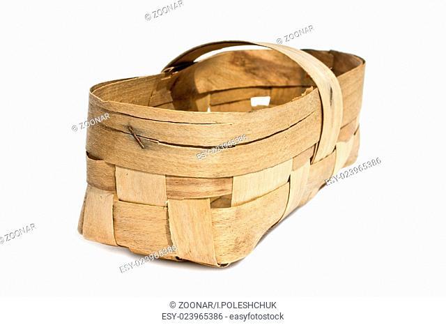 basket woven of birch bark