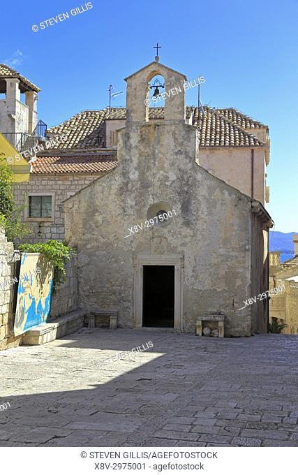 Church of St Peter, Korcula Town, Korcula Island, Croatia, Dalmatia, Dalmatian Coast, Europe