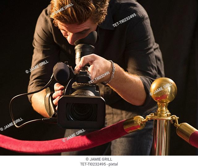 Cameraman at red carpet event
