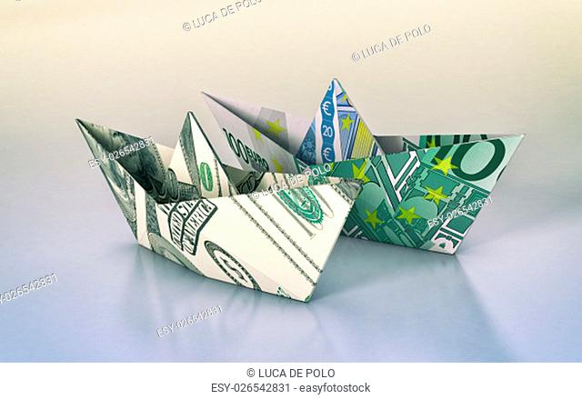 Dollar Origami Boat | Dollar origami, Origami boat, Money origami | 439x640