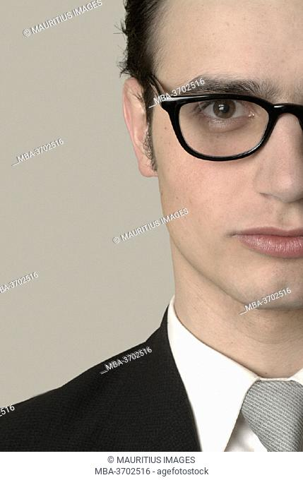 Businessman, young, glasses