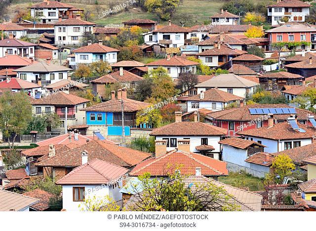 View of the town from the church of Sveta Nikola in Koprivstica, Bulgaria