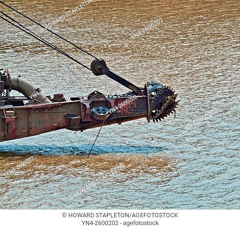 Dredge cutter head used in the Panama Canal. Republic of Panama
