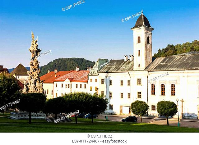 The Franciscan monastery and the plague column, Stefanik Square