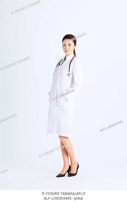 Attractive Japanese woman doctor