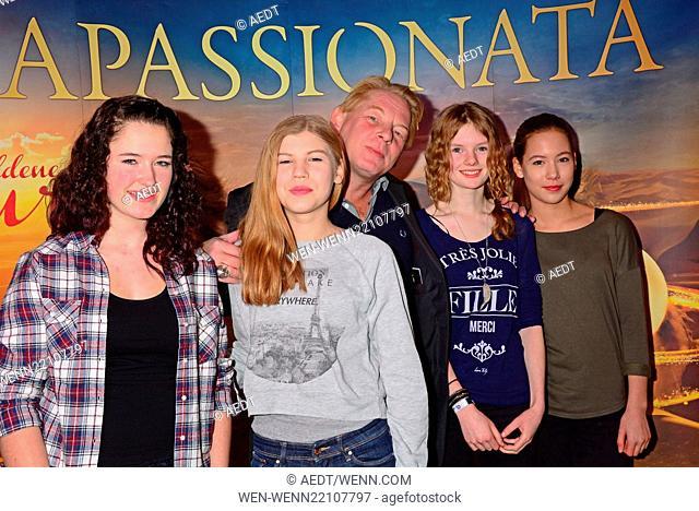 Apassionata VIP reception at O2 World arena in Friedrichshain Featuring: Ben Becker, daughter Lilith, her friends Antonia, Clara and Mietja Where: Berlin