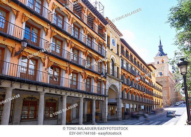 Toledo Zocodover plaza in Castile La Mancha of Spain