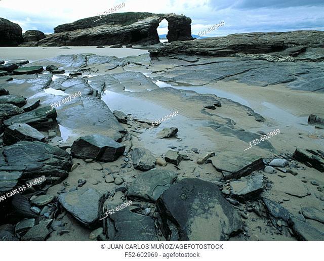 'As catedrais' beach. Lugo. Spain