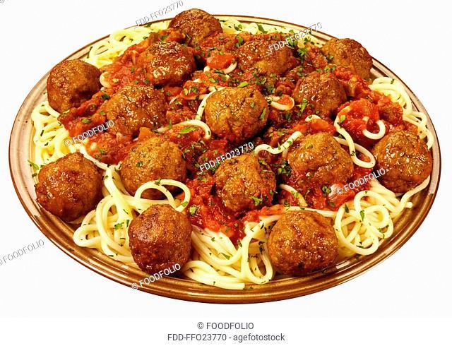 Italian Meatballs And Spaghetti Cut Out