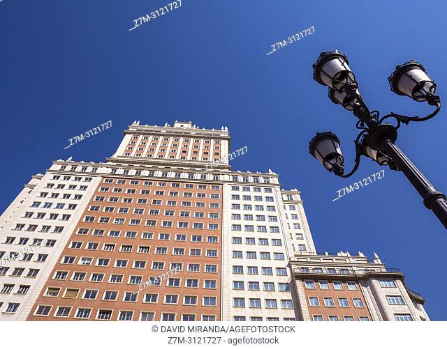 Edificio España in Plaza de España. Madrid, Spain