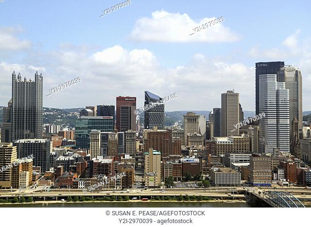 A view from Mount Washington, Pittsburgh, Pennsylvania, United States, North America