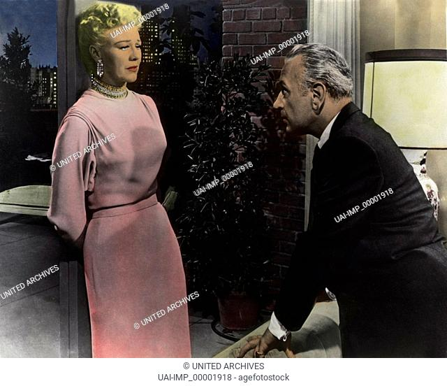 Die Spinne, (BLACK WIDOW) USA 1954, Regie: Nunnally Johnson, GINGER ROGERS, GEORGE RAFT