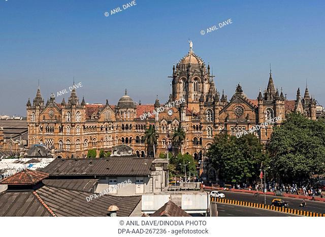 Chhatrapati Shivaji Terminus railway station, Mumbai, Maharashtra, India, Asia