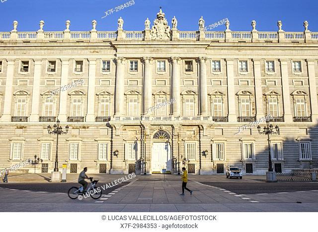 Palacio Real (Royal Palace) of Madrid, from Plaza de Oriente. Madrid, Spain