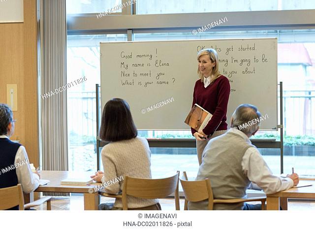 English school for senior people