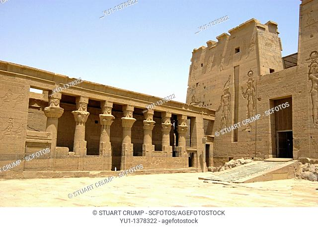 Main temple at Philae Temple, Aswan, Egypt, North Africa