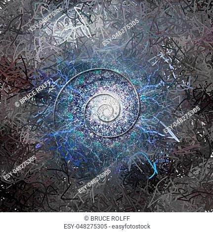 Spiral of time. Abstract background. 3D rendering