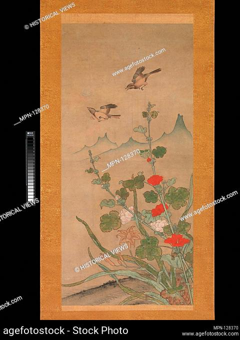 Birds and Flowers of Summer and Autumn. Artist: Shikibu Terutada (Japanese, active mid-16th century); Period: Muromachi period (1392-1573); Date: mid-16th...