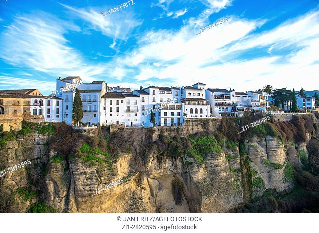 viwe at ronda and cliffs, andalucia, spain
