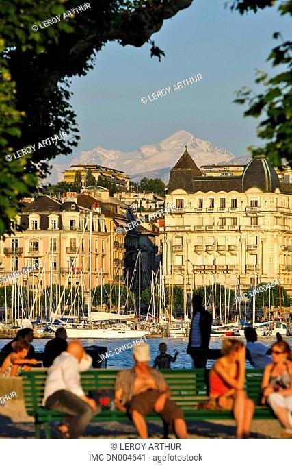 Switzerland, Geneva, bains des Paquis