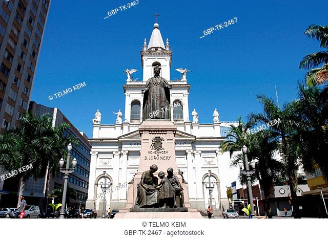 Nossa Senhora da Conceição Church, Dom João Neri Statue, Campinas, São Paulo, Brazil