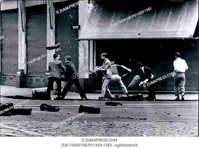 1955 - RIOTS IN ARGENTINA With some dead and many injured. The Government has accused the unions known as CGT (Confederacion General del Trabejo) of using the...