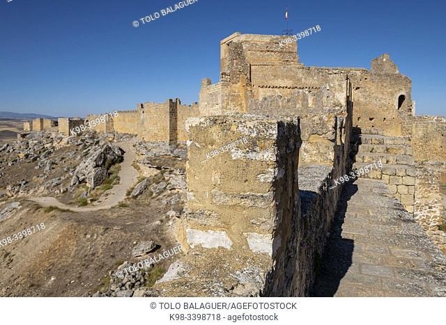 paso de ronda, Gormaz castle, 10th Century, Gormaz, Soria, Comunidad Autónoma de Castilla, Spain, Europe