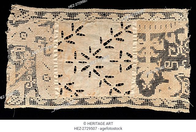 Fragment of Band with Vegetal Motifs, 17th century. Creator: Unknown