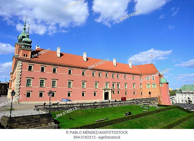 Castle or Royal Palace in Warsaw, Poland