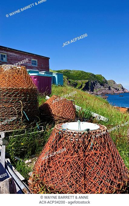 Crab traps, Red Head Cove, Newfoundland and Labrador, Canada