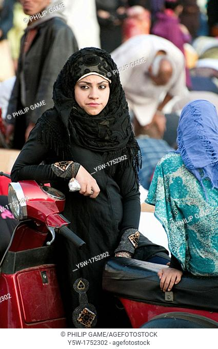 Women celebrating Eid el Adha, the Islamic Feast of Sacrifice, in Cairo