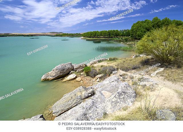 Alcaniz Lake in Teruel, Aragon, Spain