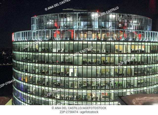 Panorama from Skyscraper in Potsdamer Platz in Berlin, Germany