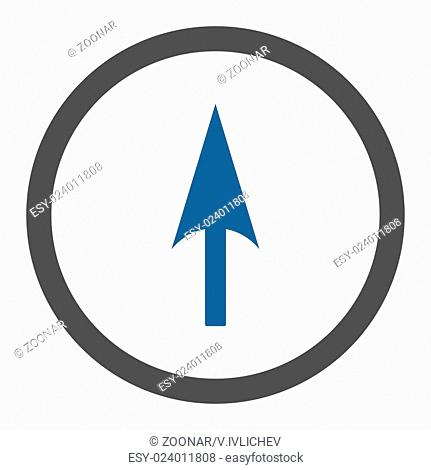 Arrow Axis Y flat cobalt and gray colors rounded raster icon