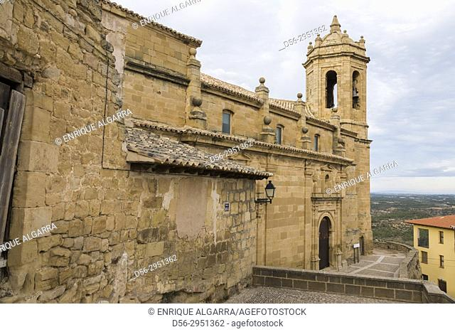 Church of Santa Maria la Mayor, La Fresneda, Matarraña, Teruel province, Aragon, Spain