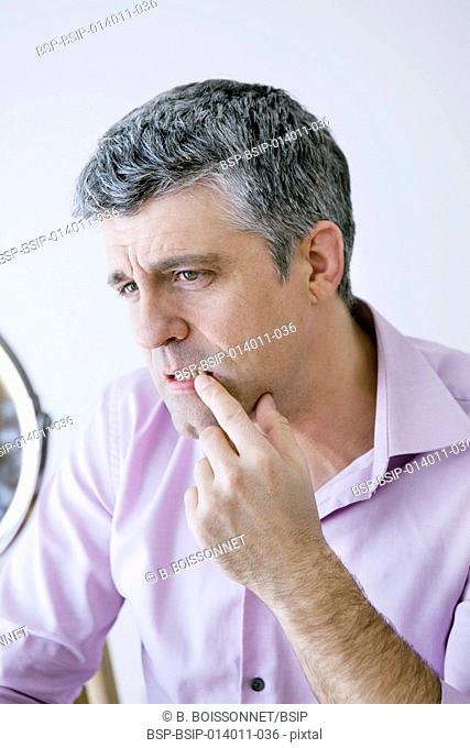 Man with mirror