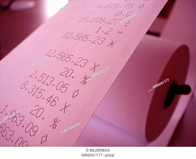 Calculator stripe Stock Photos and Images | age fotostock