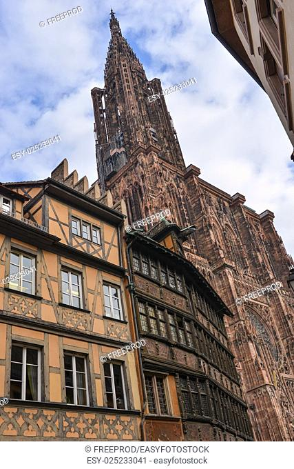 Cathedral Notre Dame of Strasbourg, Cathedral Notre Dame of Strasbourg, Bas Rhin, Alsace, France