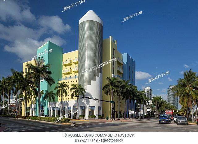 ART DECO STYLE BUILDING 404 WASHINGTON AVENUE SOUTH BEACH MIAMI BEACH FLORIDA USA