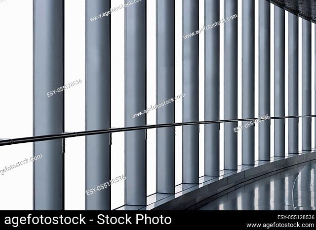 big french windows isolated on white with clipping path