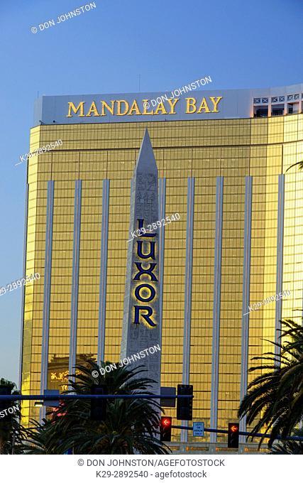 Hotel Casino Mandalay Bay and Luxor, Las Vegas, Nevada, USA