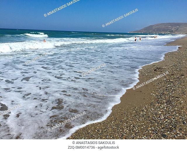 Beach near Episkopi, prefecture of Rethymno, Crete