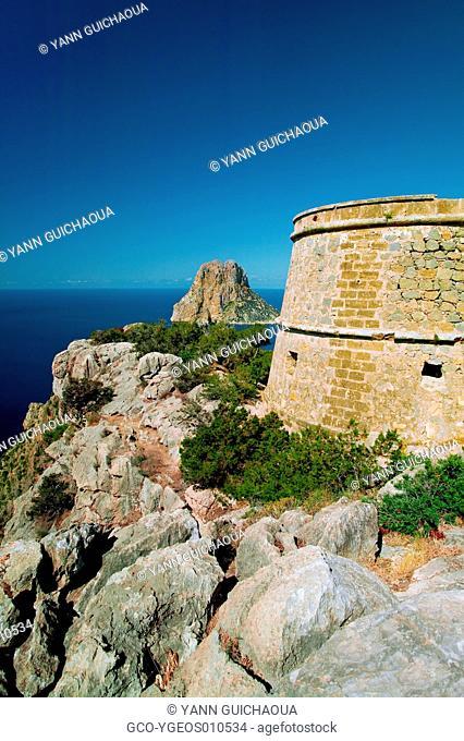 Tower Of Es Savinar, Es Vedra, Ibiza, Balearic Islands, Spain