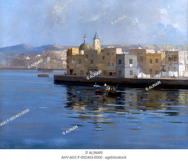 View of Pozzuoli. Painting by Vincenzo Ciardo, exhibited at the Province Picture Gallery of Bari. (1928), shot 1997 by Tartaglione