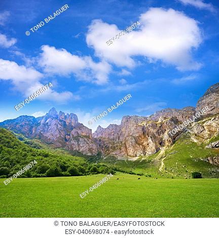 Fuente De mountains in Camaleno Cantabria of Spain