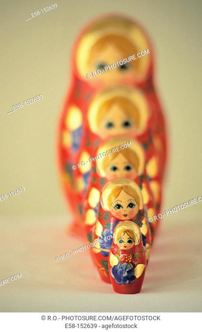 Matrioshka, Russian wooden dolls