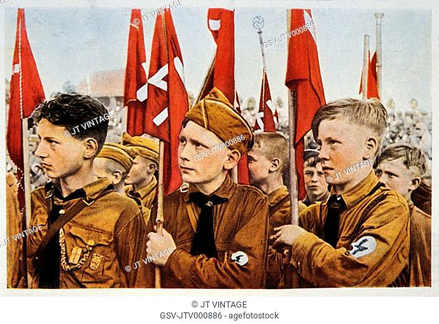 Hitler Youth, Germany, Illustration, Circa 1933