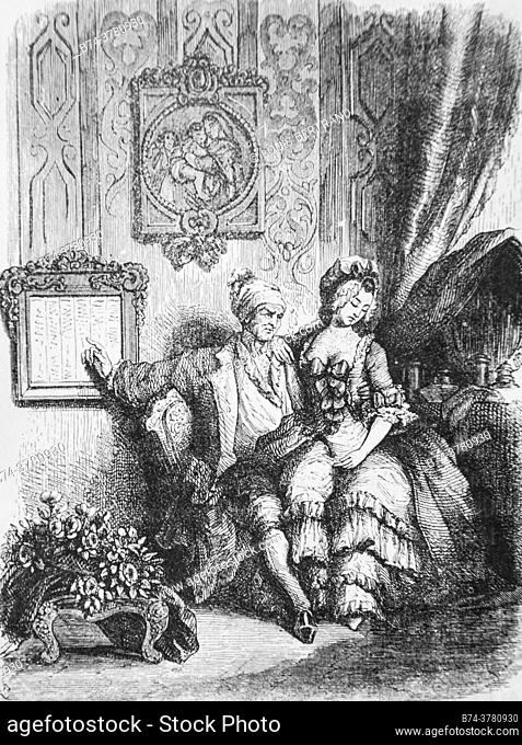 the calendar of the elderly, , tales of the fountain publisher garnier freres 1870